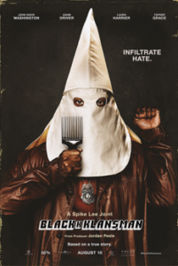 Movie poster for BlackKklansman